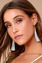 Bellamy Grey Tassel Earrings | Lulus