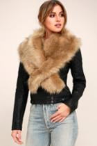 Lulus | Faux-ever Light Brown Faux Fur Stole | 100% Polyester