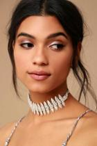 Lulus | Captivated Silver Choker Necklace
