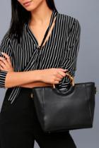 Lulus | Amberleigh Black Handbag