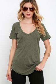 Z Supply Z Supply Pleasant Surprise Olive Green Tee