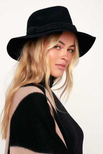 Billabong Roped In Black Felt Hat | Lulus