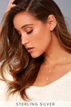Lulus | Peace And Light Gold Rhinestone Drop Necklace
