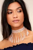 Natalie B Jewelry | Natalie B Irina Blush Pink Lace Choker Necklace | Lulus