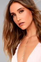 Lulus | Dot, Dot, Drop Silver Drop Necklace