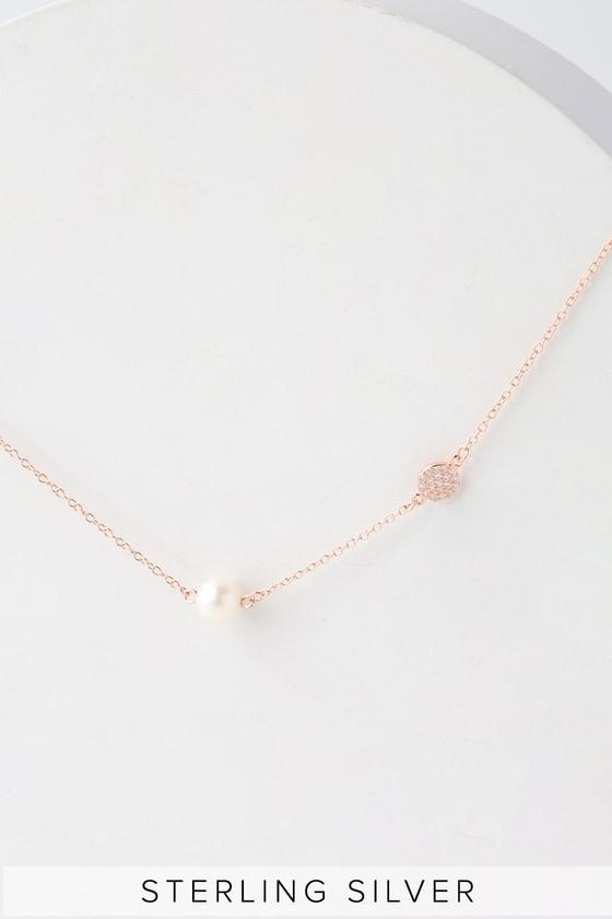 Vela Rose Gold And Pearl Necklace | Lulus