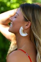 Tasha Ivory Tassel Earrings | Lulus