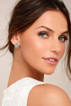 Lulus | Akasha Silver Rhinestone Earrings
