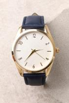 Lulus Infinity Gold And Navy Blue Watch