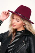 Wilinda Burgundy Felt Hat | Lulus