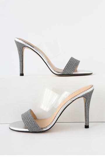 Allegra James Disco Silver High Heel Sandal Heels   Lulus