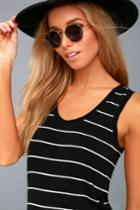 Z Supply Eisha Black And White Striped Tank Top | Lulus