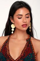 Kerr Gold Glitter Earrings | Lulus