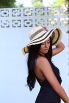 Apres La Plage Beige And Black Straw Fedora Hat | Lulus
