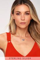 Caught My Eye Sterling Silver Rhinestone Evil Eye Necklace | Lulus