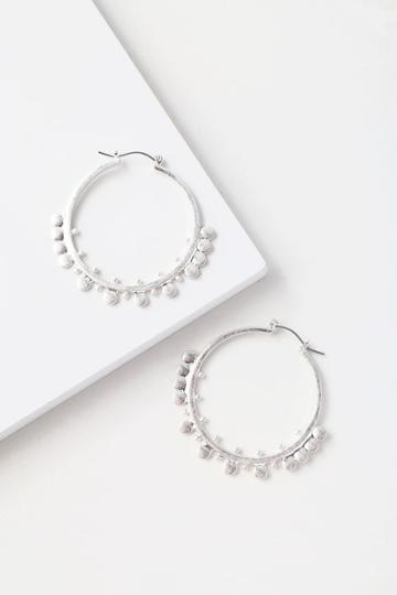 Modern Muse Silver Hoop Earrings | Lulus