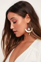 Mercer Gold Rhinestone Earrings | Lulus