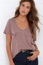 Z Supply Z Supply Pleasant Surprise Mauve Tee