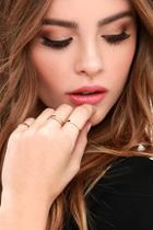 Lulus These Reveries Gold Ring Set