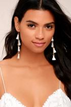 Vanessa Mooney | Dynasty White Tassel Earrings | Lulus