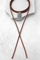 Lulus Mojave Magic Gold And Brown Rhinestone Wrap Necklace