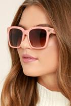 Lulus Perverse Avery Blush Sunglasses