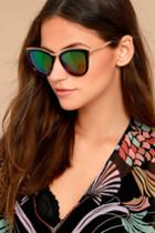 Lulus | Style First Black And Pink Mirrored Sunglasses