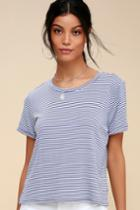 Kickback Blue And White Striped Tee | Lulus