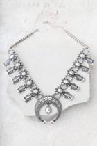 Lulus Resplendent Silver Statement Necklace
