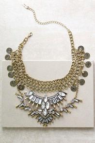 Lulus Love Tarot Gold Rhinestone Choker Necklace