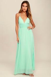 Lulus Depths Of My Love Mint Maxi Dress
