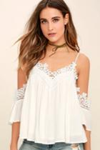 Daily Devotion White Lace Off-the-shoulder Top | Lulus