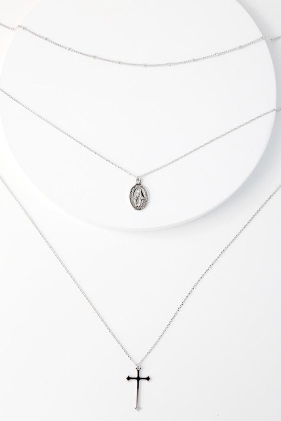 Lulus | Eternity Silver Layered Necklace
