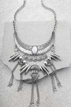 Lulus Rhea Layered Silver Statement Necklace