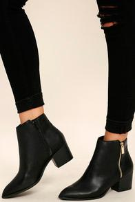 Bonnibel Illusion Black Pointed Ankle Booties