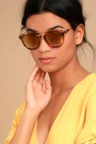 Perverse | Lynna Tortoise And Gold Mirrored Sunglasses | Lulus