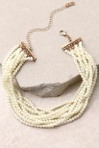 Lulus Get Glam Gold And Pearl Choker Necklace
