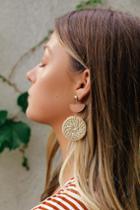 Silvana Beige Woven Earrings | Lulus