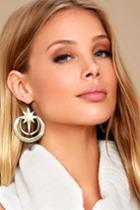 Lulus | Life Energy Gold Earrings