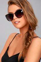 Lulus Style First Black Sunglasses