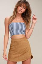 Bb Dakota Annette Tan Suede Mini Skirt | Lulus
