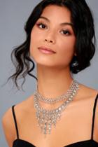 Lulus | Dream Collaboration Silver Choker Necklace Set