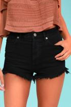 Amuse Society | Kenzie Black Cutoff Denim Shorts | Size 29 | 100% Cotton | Lulus