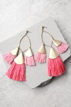 Ettika Destiny Around You Hot Pink And Gold Earrings