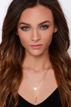 Lulus Perfect Trio Gold Layered Necklace