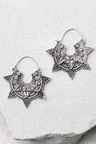 Lulus Spiritual Burst Silver Earrings