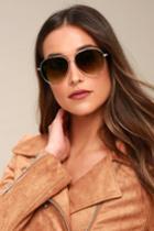 Santa Maria Gold Aviator Sunglasses | Lulus
