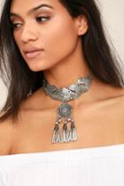 Lulus | Spirit Song Silver Statement Necklace