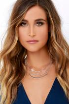 Lulu*s Arch You Ready? Silver Layered Necklace