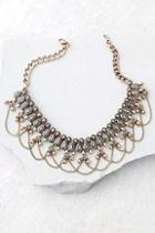 Lulus Mesmerize On You Gold Choker Necklace